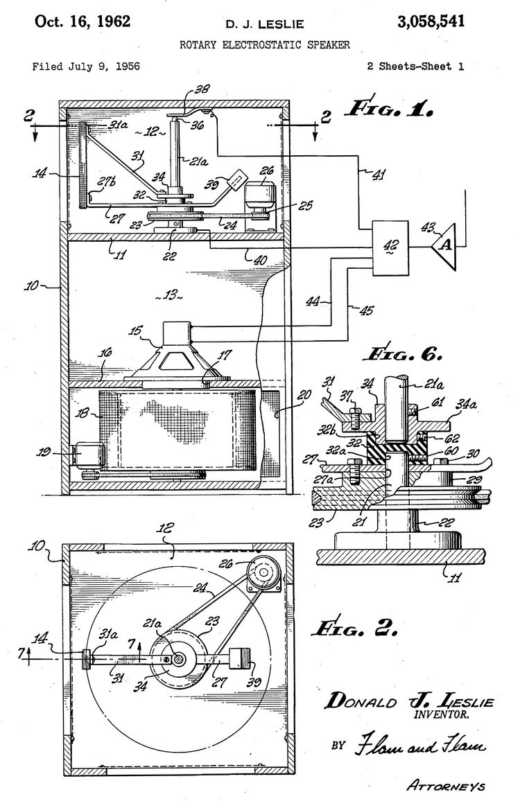 hammond orgel club holland  u203a diverse donald leslie patenten